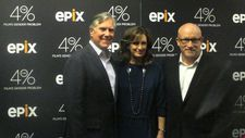 Mark Greenberg and Anne Sweeney with Alex Gibney
